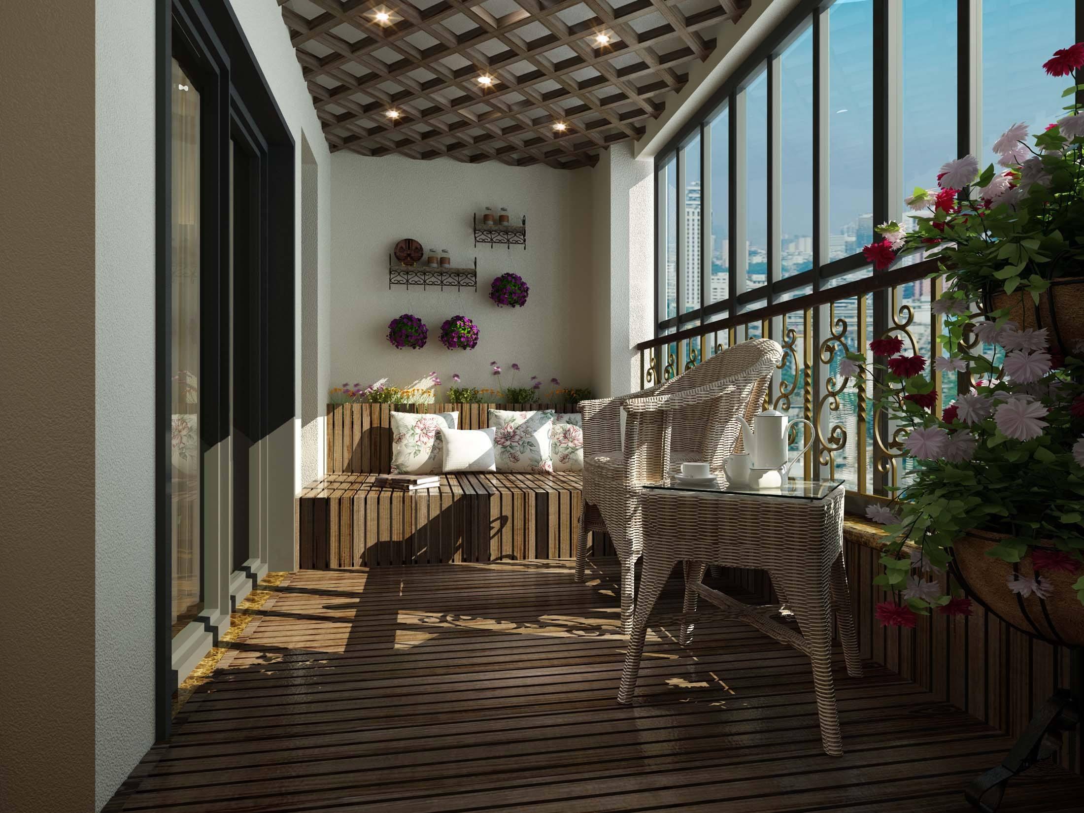 绿植阳台装修效果图