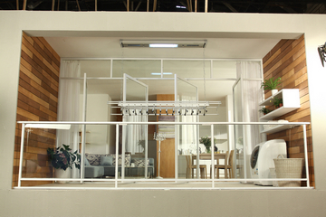 晾霸晾衣架|晾衣机-平顶阳台安装图片