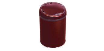 酒红色智能垃圾桶